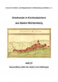 Ortsfremde in BW Heft 27: Hausen/Würm