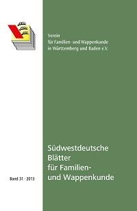 Südwestdt. Blätter für Familien- und Wappenkunde Band 31