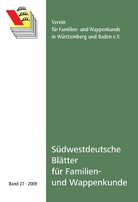 Südwestdt. Blätter für Familien- und Wappenkunde Band 27