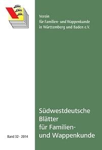 Südwestdt. Blätter für Familien- und Wappenkunde Band 32