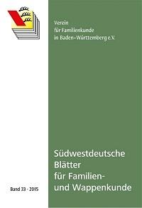 Südwestdt. Blätter für Familien- und Wappenkunde Band 33