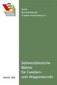 Südwestdt. Blätter für Familien- und Wappenkunde Band 34