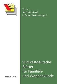 Südwestdt. Blätter für Familien- und Wappenkunde Band 36