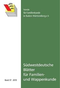 Südwestdt. Blätter für Familien- und Wappenkunde Band 37