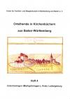 Ortsfremde in BW Heft 04: Unterriexingen (Markgröningen-), Kreis Ludwigsburg