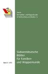 Südwestdt. Blätter für Familien- und Wappenkunde Band 31 (2013)