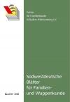 Südwestdt. Blätter für Familien- und Wappenkunde Band 38