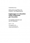 Ergänzungen zur Ahnenliste Ottilie Wildermuthgeb. Rooschütz
