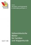 Südwestdt. Blätter für Familien- und Wappenkunde Band 27 (2009)
