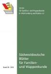 Südwestdt. Blätter für Familien- und Wappenkunde Band 28 (2010)