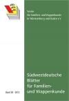 Südwestdt. Blätter für Familien- und Wappenkunde Band 30 (2012)