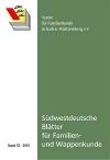 Südwestdt. Blätter für Familien- und Wappenkunde Band 33 (2015)